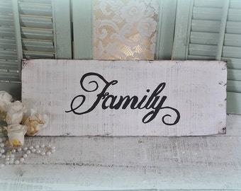 Family wood sign,Shabby chic,repurposed wood,cottage