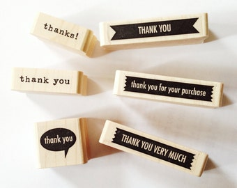 Wedding Thank You Stamps Thanks Stamp Thank You Rubber Stamp Thank you for your purchase Thank you very much