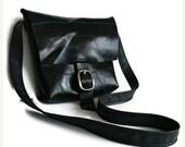 HOLIDAYSALE Medium Size Traveler Messenger Bag - Recycled Rubber Shoulder Bag