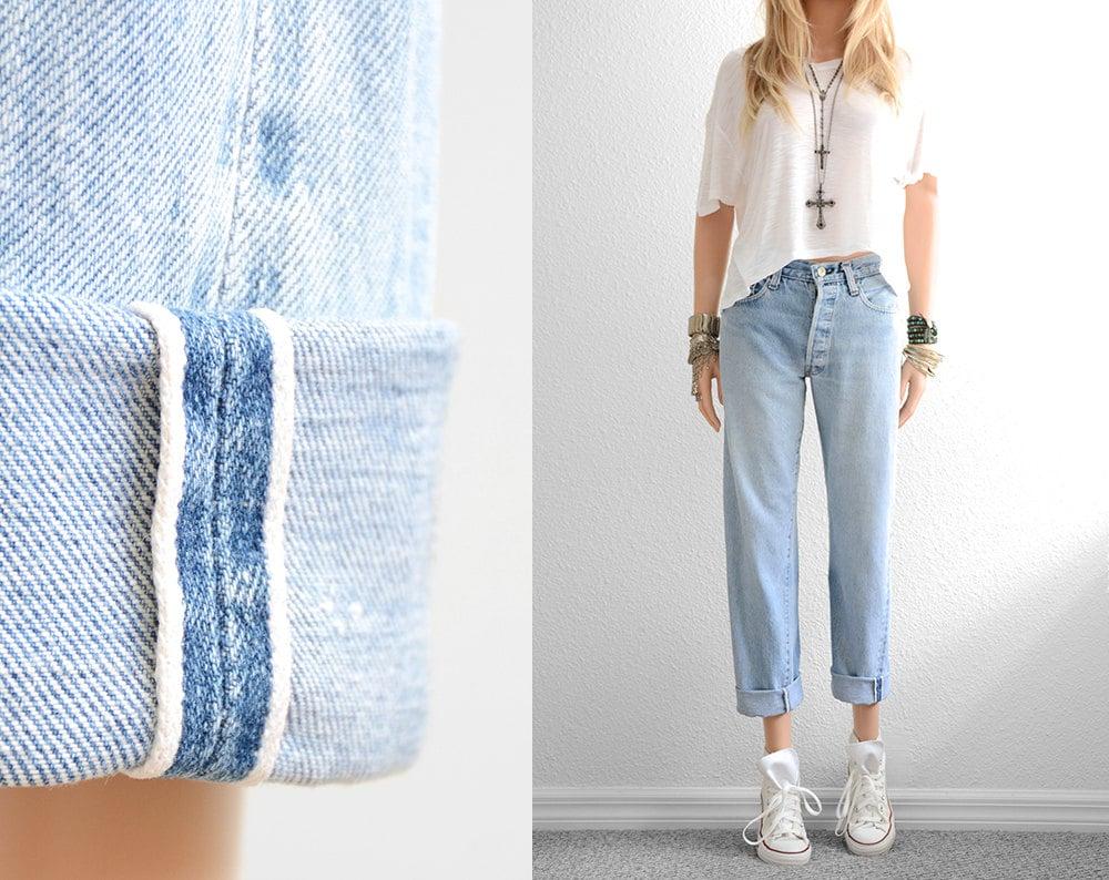 Levis 501 Redline Jeans Boyfriend Jeans Baggy Jeans Vintage