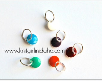 Little Gems Jewel Tones Stitch Markers (Set of 6)