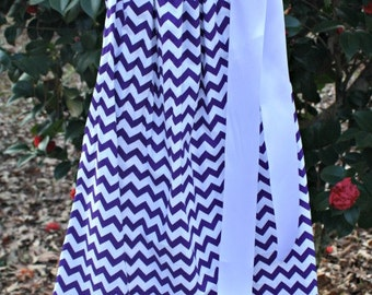 Girls Purple Chevron Mardi Gras LSU  Pillowcase Dress
