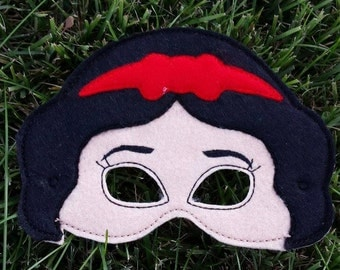 Disney Princess Masks/Snow white/Tiana/Belle/Costume/Dress up/Princess Birthday party/Birthday gift