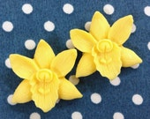4 Pcs Pretty Phalaenopsis Cabochon - Yellow