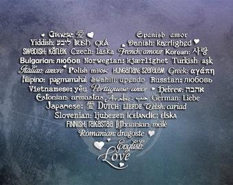 LOVE Languages Art Prints - 8.5 x 11 - Enchanted Passage