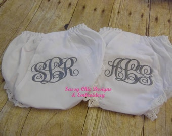 Personalized Diaper Cover/Monogrammed Diaper Cover/Bloomers/Boutique Style Diaper Cover/Girls Diaper Cove/Personalized/Monogrammed