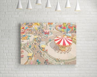 Ride the Sky II Canvas Print // Carnival Memories Photography on Extra Large Gallery Canvas // Circus Style for A Nursery,  Kid's Room