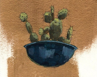 Golden Cactus . giclee art print
