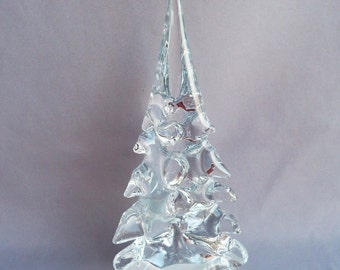 Hand Blown Art Glass  Christmas Tree -Large