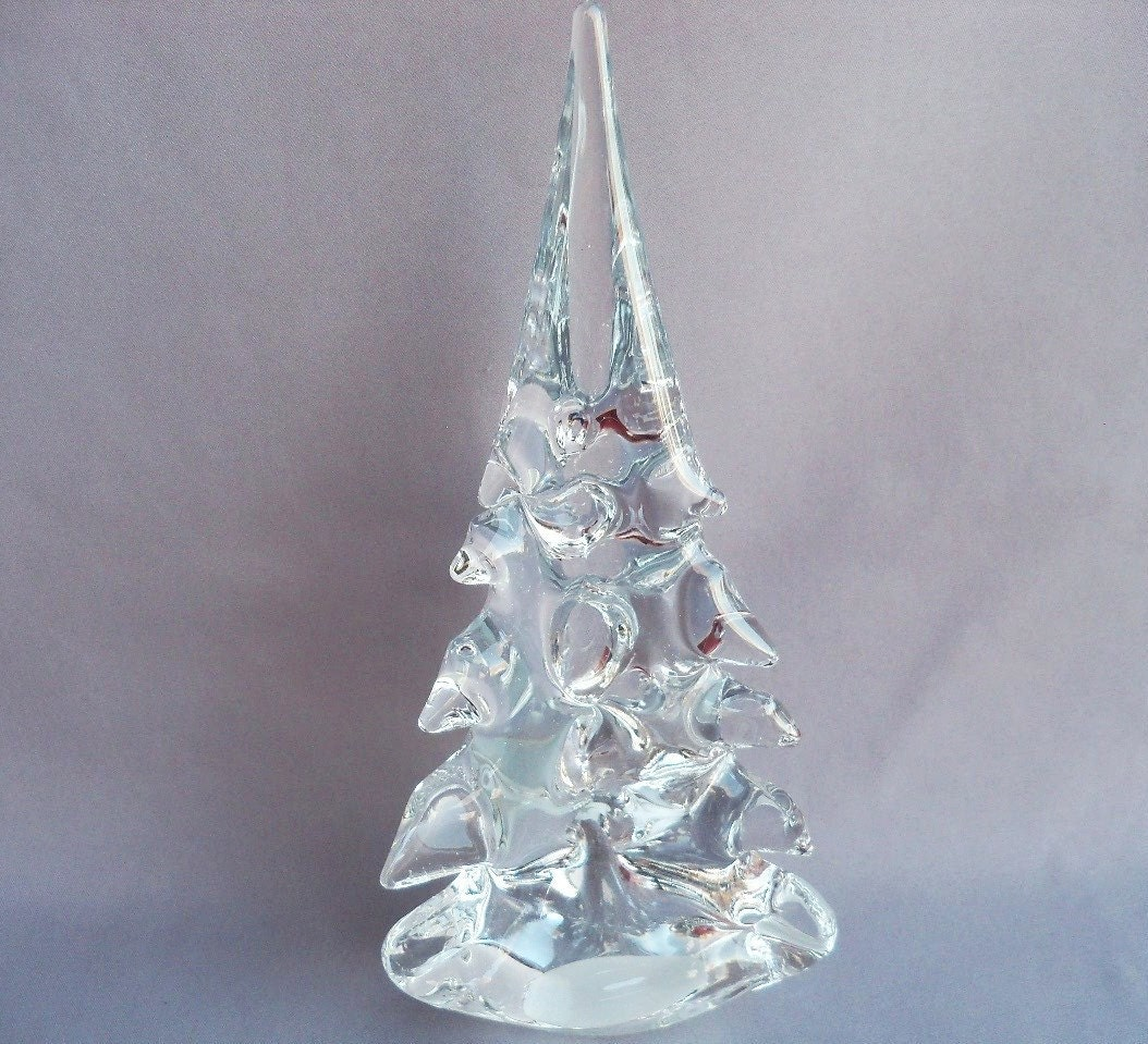 Hand blown art glass christmas tree large