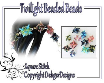 Twilight Spike Beaded Bead - Beading Pattern Tutorial