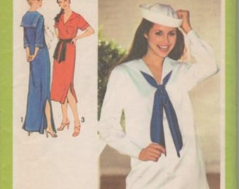 Vintage Nautical Sailor Dress or Tunic 9073 Uncut