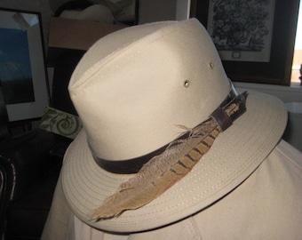 Man's Khaki Fedora/Safari Hunter Hat