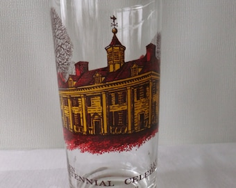 Vintage Bicentennial Celebration 1776 1976 Drinking Glass Tumbler Mount Vernon George Washington Collector