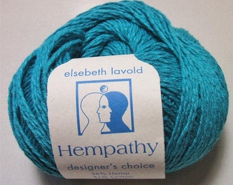 Hempathy 67 Dark Turquoise Elsebeth Lavold Hemp Cotton Modal Yarn 50 gram