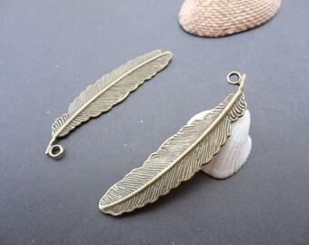 20pcs 52mmx13mm Tree Leaf  Antique Bronze Retro Pendant Charm For Jewelry Pendant