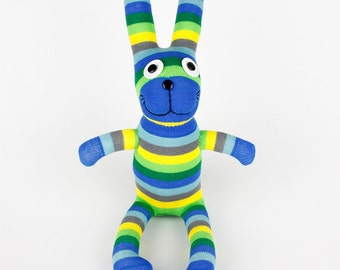 Birthday Gift Handmade Sock Rabbit Bunny Stuffed Animal Doll Baby Toys easter gift