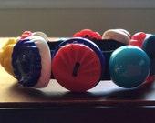Button Bracelet with Colorful Vintage Buttons