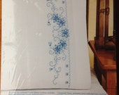 JANLYNN Kit Stamped Cross Stitch PILLOWCASES
