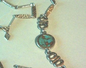 Vintage Sarah Cov Turquiose Necklace
