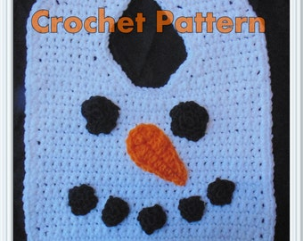 Snowman Bib Crochet Pattern - INSTANT DOWNLOAD