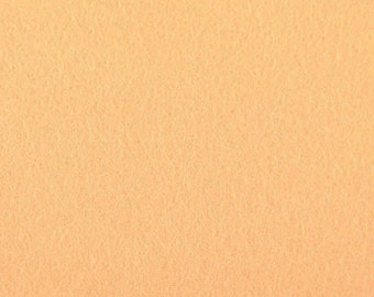 Apricot - 100% Pure New Wool Felt
