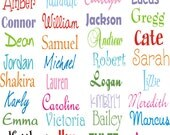 8 Name Decals for Kids * Personalize Door Notebook Containers * Cute and Fun * Affordable * Vinyl Name Decals * Kid's Room * Storage Boxes *