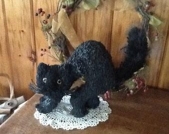 Scary Black Cat Wild Halloween Decoration