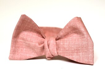 Men's Bow Tie - Misty Rose - Freestyle Self Tie - match J.Crew dresses - Adjustable Bowtie