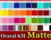 """GRAB BAG  5 roll  6""""x5feet rolls indoor removable matte Oracal 631  Adhesive Backed Vinyl for Craft & Sign Cutter random colors"""