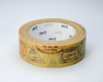Limited Edition mt Japanese Washi Masking Tape Vol.2 - Passport 15mm wide for scrapbooking, packaging