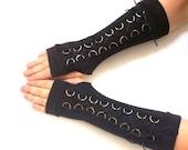 Black  long fingerless gloves - Corset Hand