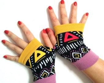 Sale gloves Fingerless gloves multicolored winter gloves