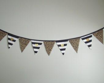 SO HAPPY 'Gold Hearts' Fabric Bunting