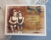 Sisters Thinking of You card - Sisters in Christ card - Hello Sister Card - 1 Card and Envelope