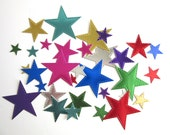 Multi Colored Foil Die Cut Stitched Stars Party Scrapbooking Cardmaking