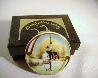Vintage Pin BUCKLEY Moss Society Country Wedding 441 Signed