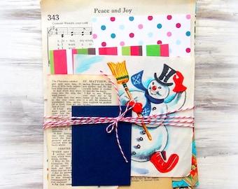 Christmas Mini Paper Pack / Vintage & New / DIY