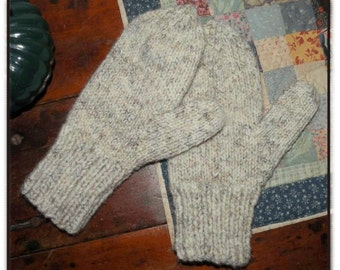 Women's Double-thick, Double-warm Winter Mittens Pattern to Knit