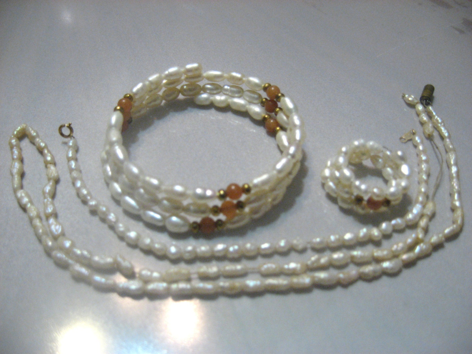 tennessee pearl jewelry set 2 bracelets ring by tevryr on etsy. Black Bedroom Furniture Sets. Home Design Ideas