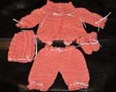 Custom  crocheted newborn layette