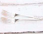 Mr. & Mrs. fork set - rose pattern