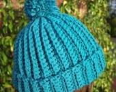 Crochet Beanie PATTERN, Crochet hat pattern, Easy crochet pattern, Easy Ribbed Beanie pattern (C107) - Toddler, Child, Adult sizes