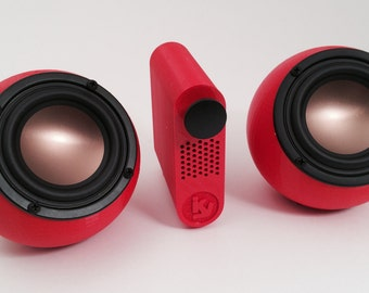 3D printed ikyaudio soundspheres - with amp - you choose the color