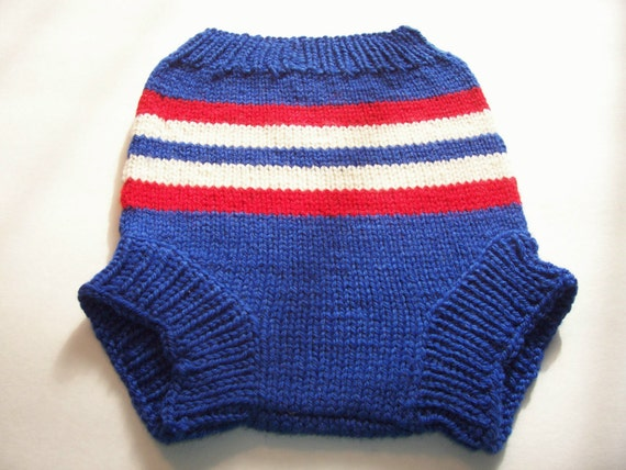Knitting Pattern For Wool Diaper Covers : SALE Hand Knitted Wool Diaper Cover Knit Cloth Diaper Wool