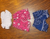 Shorts and a halter top set made to fit Waldorf style dolls 6-7  inches
