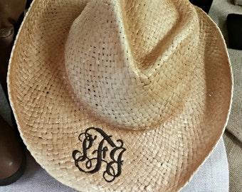 Monogrammed Western Hat