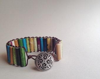Paper Bead Wrap Bracelet