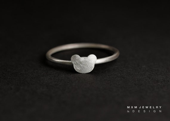 Sterling Silver Little Bear Ring