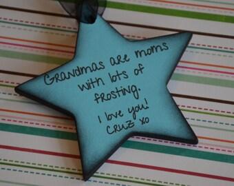 Personalized Grandma Ornament- Personalized Gift for Grandma from Grandchildren- Grandmother Ornament- Nana Ornament- Nanny Ornament